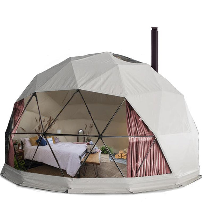 Glamping Geodesic Dome Tent Small 16' Backcountry Hot Tubs & Saunas