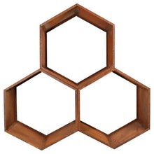 Load image into Gallery viewer, Honeycomb Wood Storage Rack 3 Pack Backcountry Hot Tubs & Saunas
