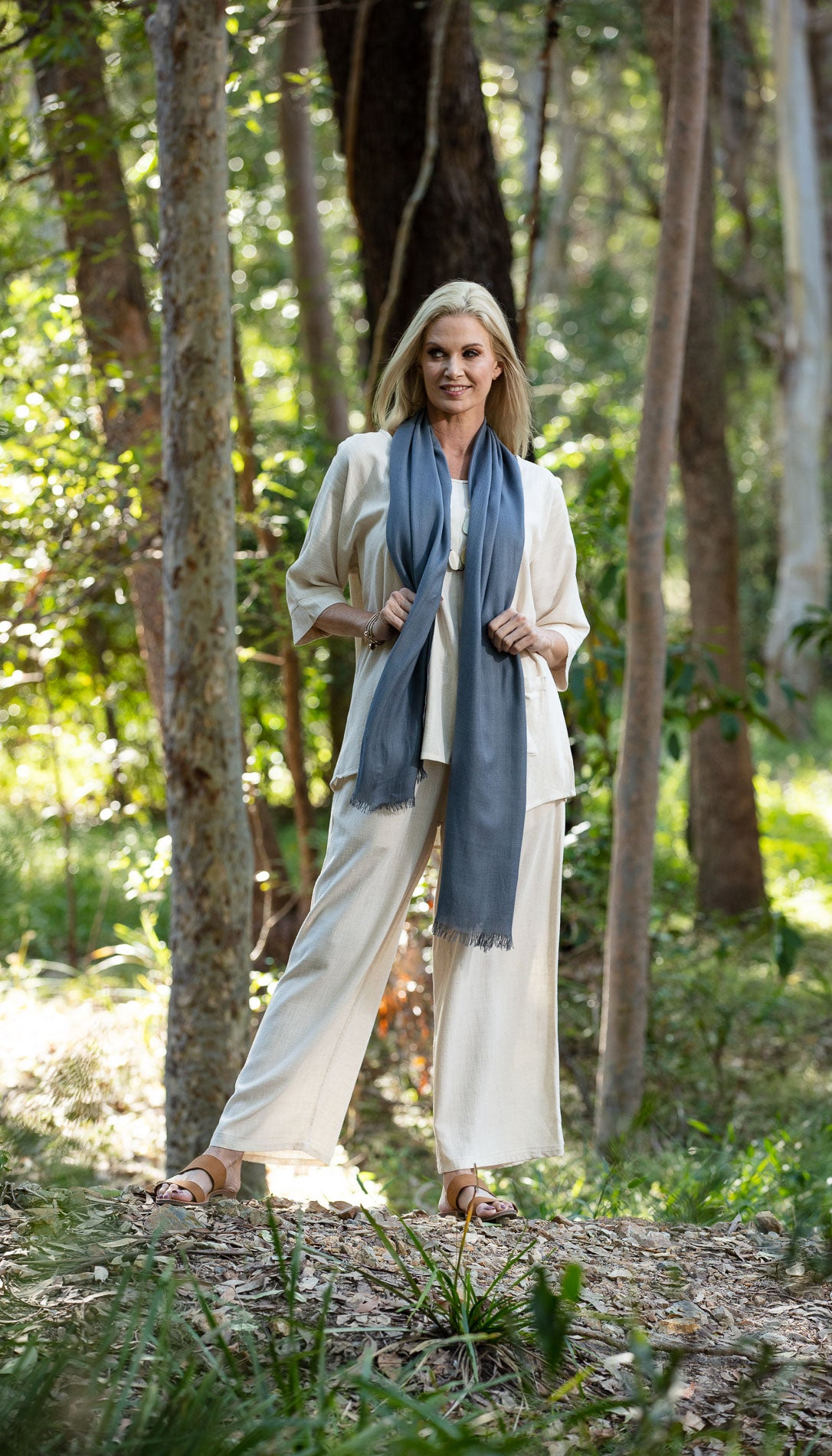 NEW Organic Bamboo Scarf Grey