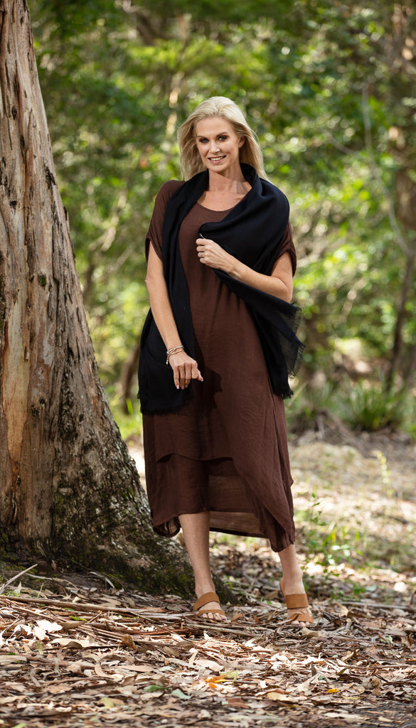 NEW Organic Bamboo Scarf Black