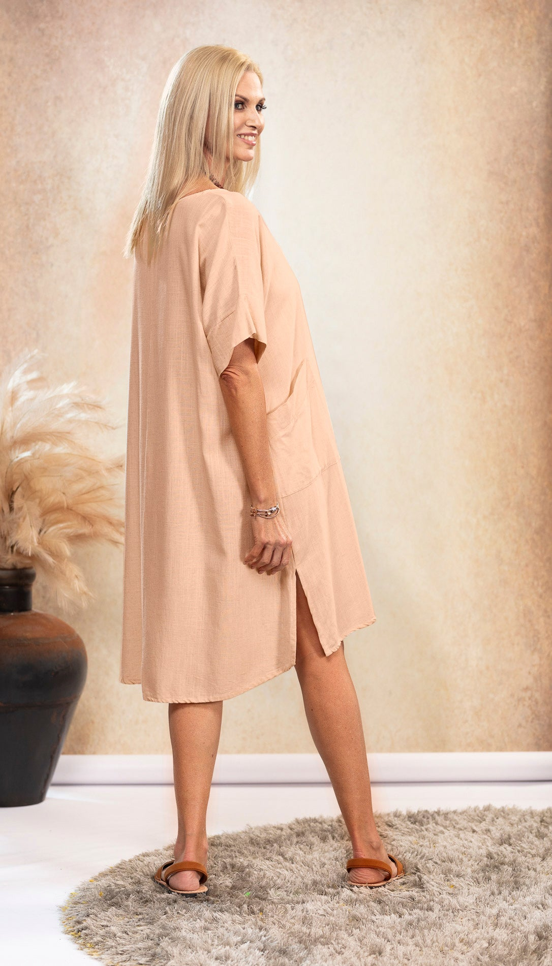 The Shift Linen Dress in Dusk