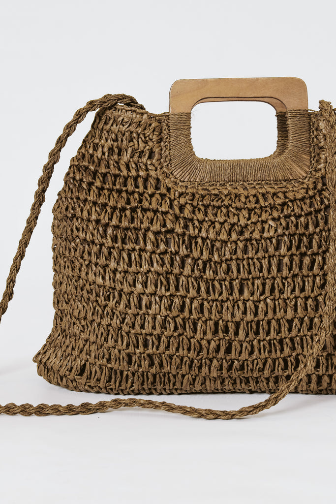 The Everyday Woven Bag Chocolate