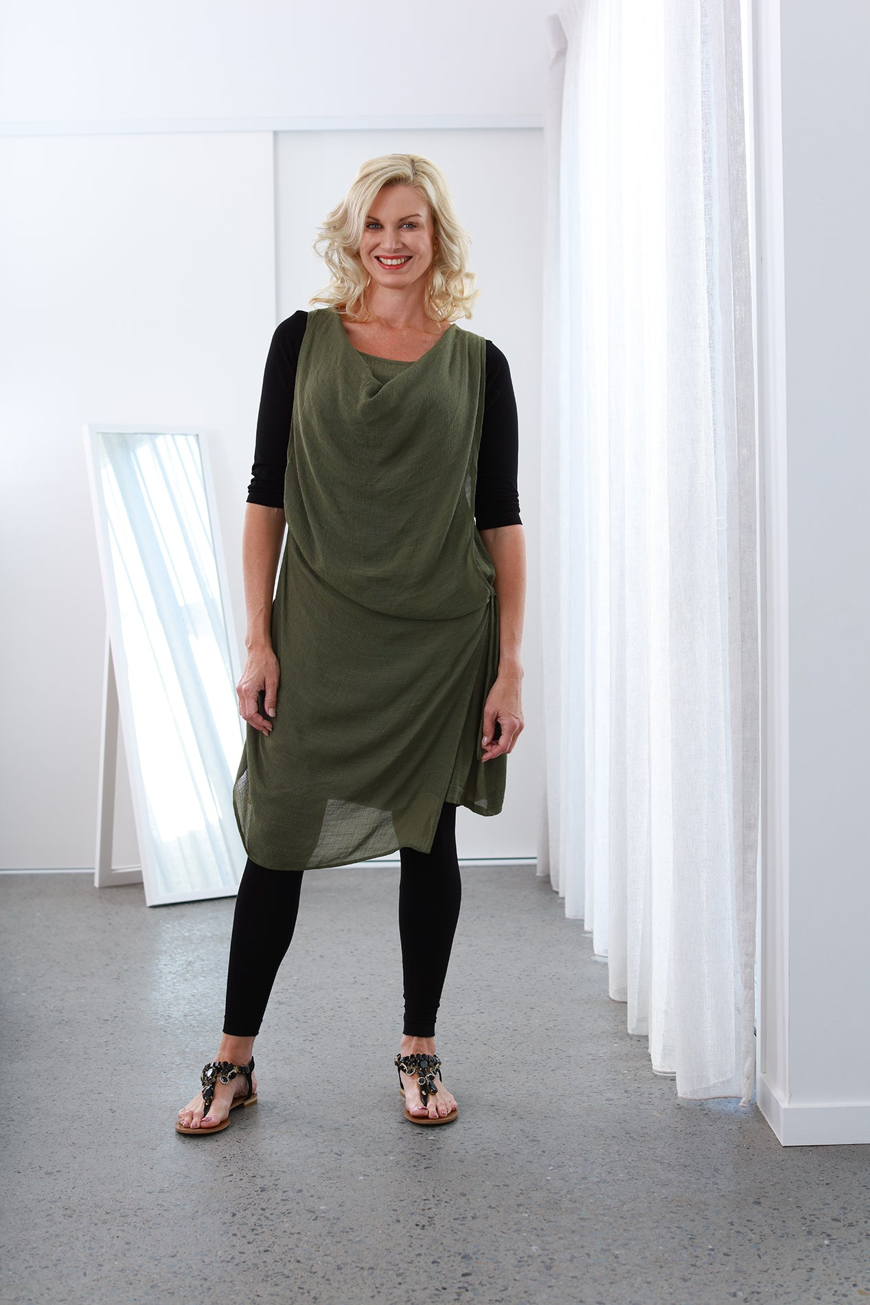 Athena Olive Green NEW SIZE RANGE XS to 5XL