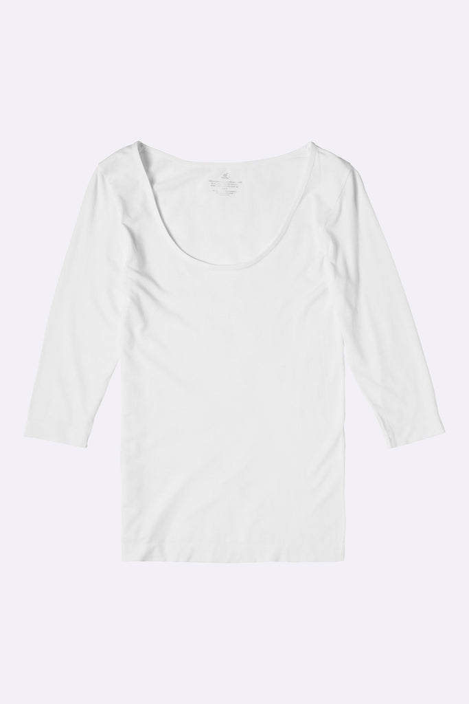 3/4 Sleeve Top White