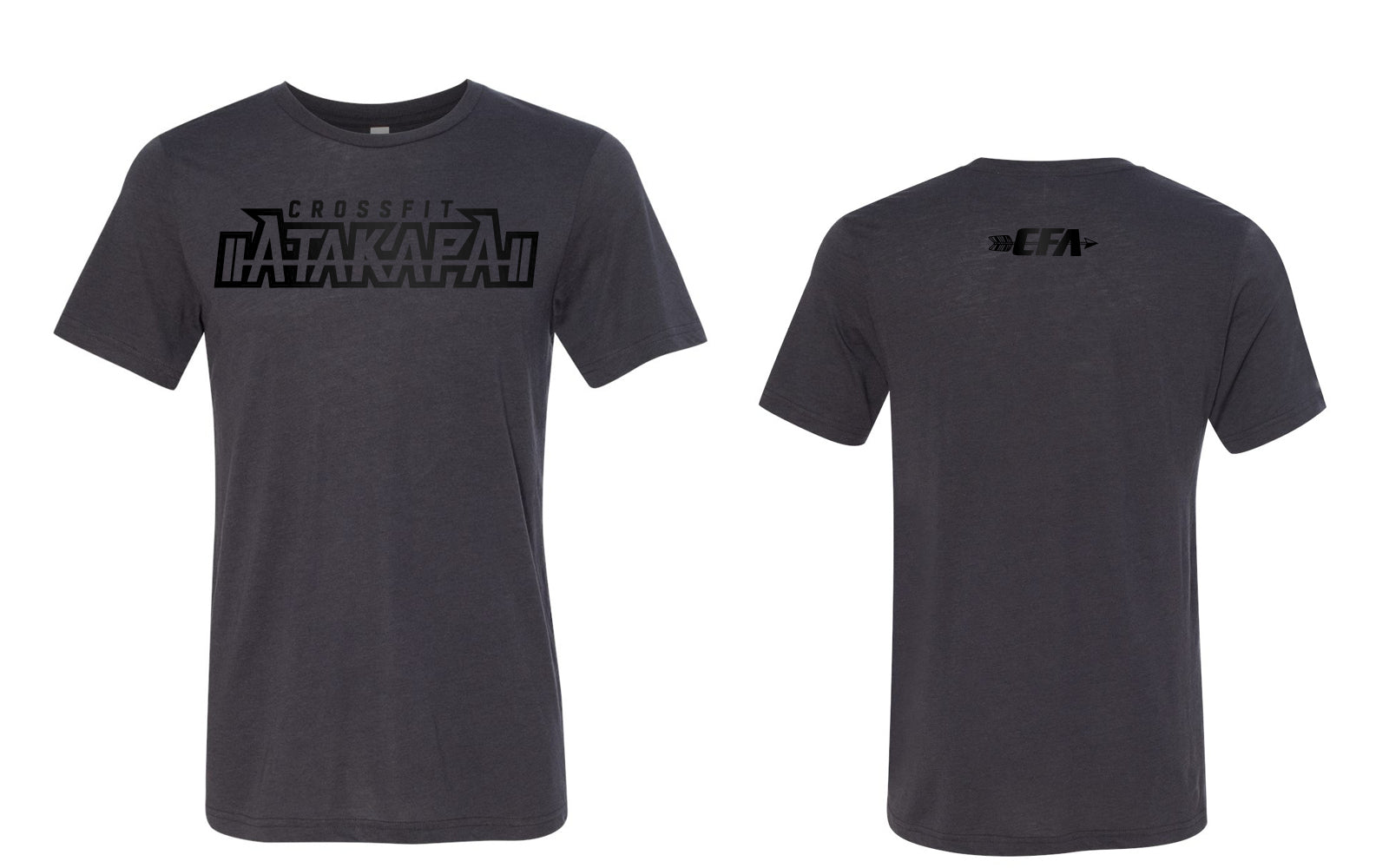 CrossFit Atakapa:  Black on Grey Tee