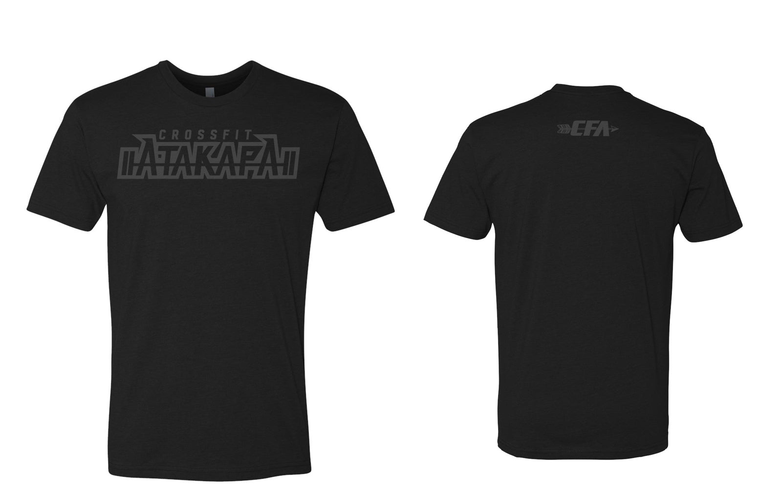 CrossFit Atakapa:  Black on Black Tee