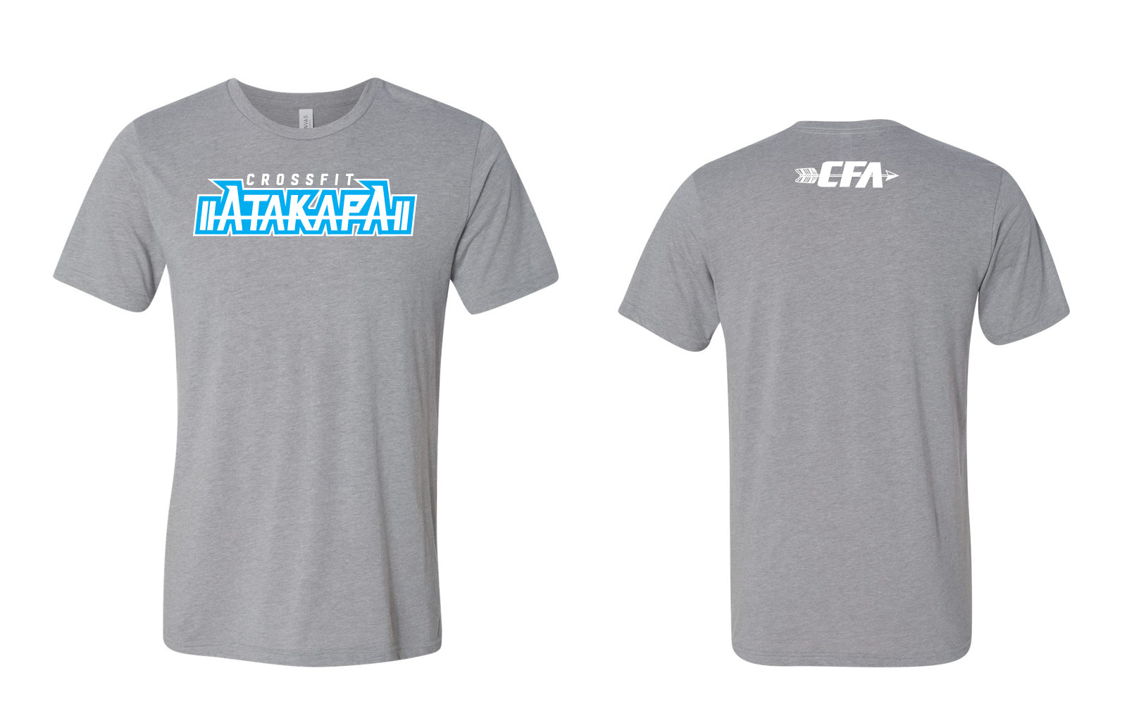 CrossFit Atakapa:  Ice Blue & Grey Tee