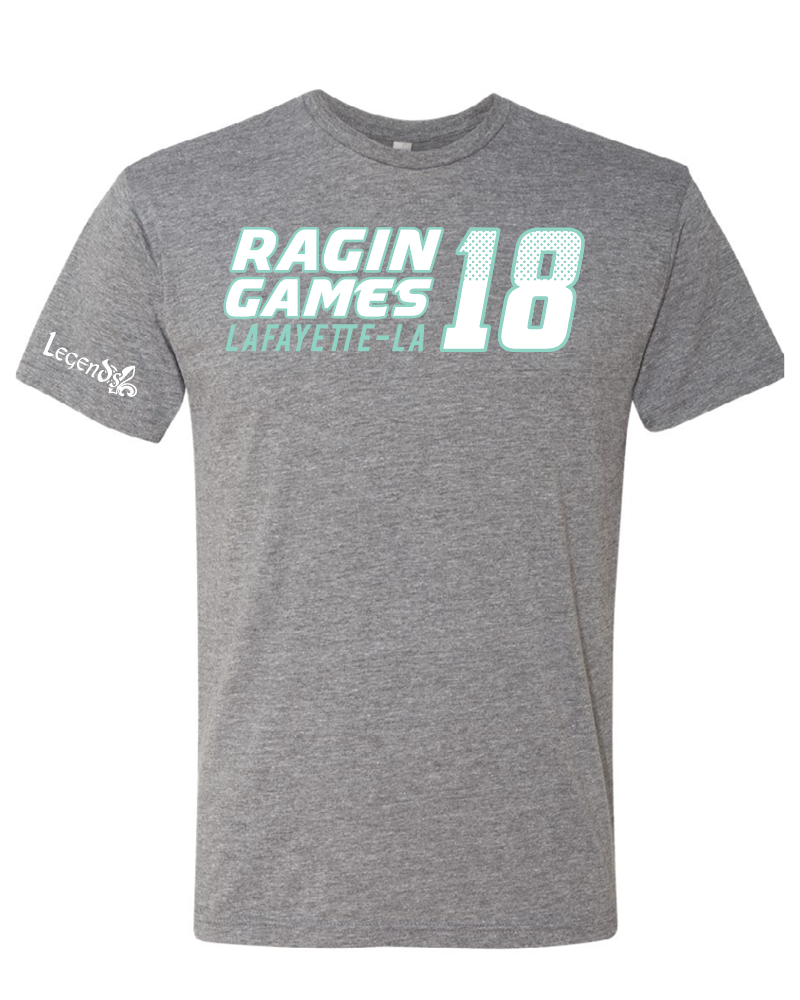Ragin Games: Dark Heather Grey T-shirt