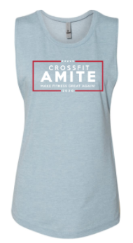 Crossfit Amite:  Make Fitness Great Again Ladies Muscle Tank *Available in 2 Color Options