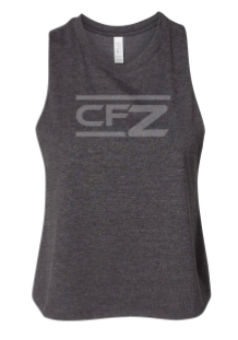 CrossFit Zachary - Tonal Print Ladies Cropped Racerback Tank *Available in 2 Color Options