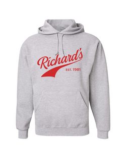 Richard's Vintage Hoodie Athletic Grey