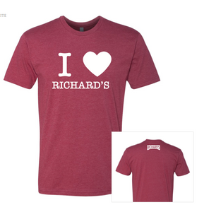 I Heart Richard's Cardinal Red Tshirt