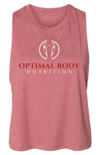 Optimal:  Ladies Cropped Racerback Tank *Available in Multiple Color Options