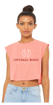Optimal:  Ladies Festival Cropped Tank *Available in 2 Color Options
