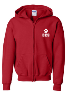 CES - Youth Full-Zip Hooded Sweatshirt  *Available in 2 Color Options