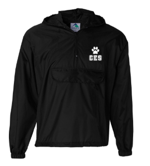 CES - Adult Packable Half-Zip Hooded Pullover  *Available in 2 Color Options