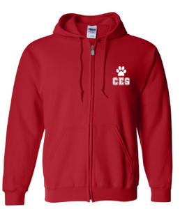 CES - Adult Full-Zip Hooded Sweatshirt  *Available in 2 Color Options