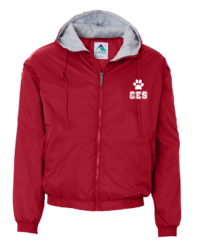 CES - Adult Fleece Lined Hooded Jacket  *Available in 2 Color Options