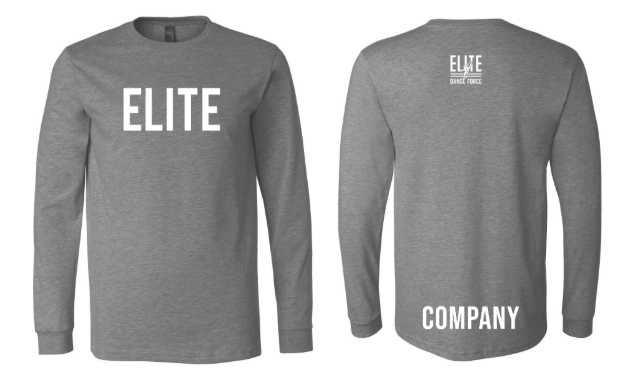 Elite Dance Force Company Adult Long Sleeve Tee