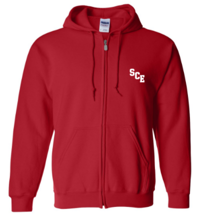 SCE - Adult Full Zip Hooded Sweatshirt *Available in 2 Color Options