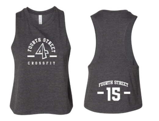 Employee - 4th Street:  Ladies Cropped Racerback *Available in 5 Color Options