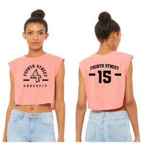 4th Street:  Ladies Cropped Muscle Tank