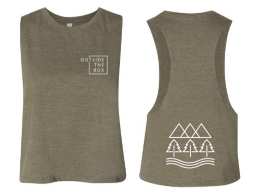 OTB:  The Great Outdoors Cropped Racerback Tank