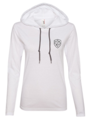 GCCF:  Ladies Hooded Long Sleeve Tee *Available in 2 Color Options