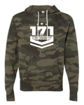 Crossfit 171:  Forest Camo Hooded Sweatshirt