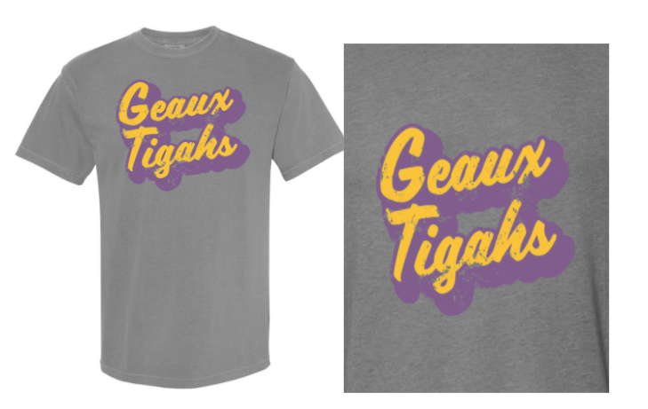 Geaux Tigahs - Adult Short Sleeve Tee