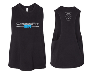 CFBR - Barbell Logo Ladies Cropped Racerback *Available in 2 Color Options
