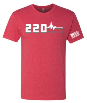 220 Fitness - Heartbeat Logo Adult Unisex Tee *Available in 5 Color Options