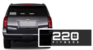 220 Fitness - Car Decal