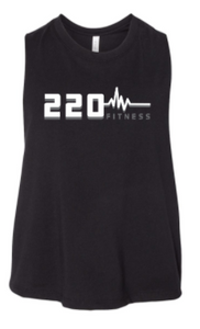 220 Fitness - Heartbeat Logo Ladies Cropped Racerback *Available in 2 Color Options