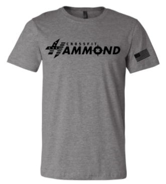 CrossFit Hammond - Horizontal Logo Adult Unisex Tee *Available in 6 Color Options