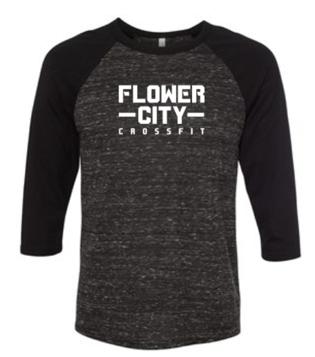 FCCF:  Horizontal Logo Unisex Raglan *Available in 3 Color Options