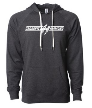 CrossFit Hammond:  Bar Logo Unisex Hoodie *Available in 5 Color Options