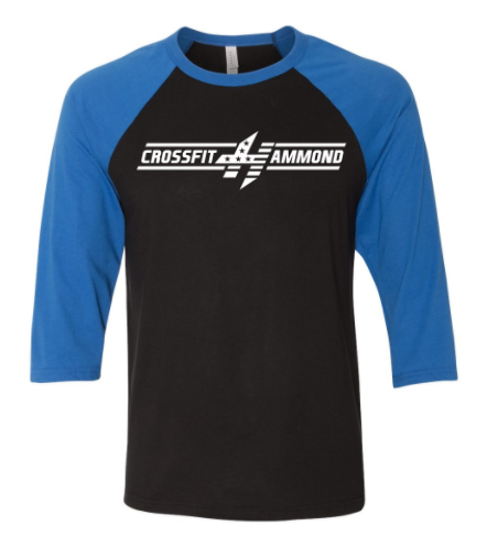 CrossFit Hammond:  Bar Logo Unisex Raglan *Available in 3 Color Options