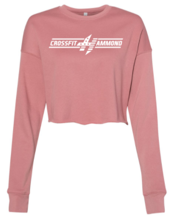 CrossFit Hammond - Bar Logo Ladies Cropped Crew Fleece *Available in 3 Color Options