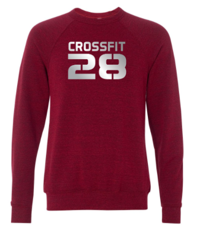 CrossFit 28 Metallic Silver Logo:  Unisex Crewneck Sweatshirt *Available in 2 Color Options