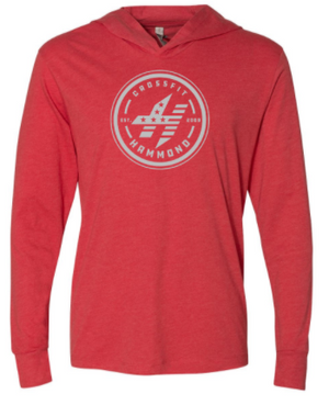 CrossFit Hammond - Circle Logo Lightweight Unisex Long Sleeve Hooded Tee *Available in 4 Color Options