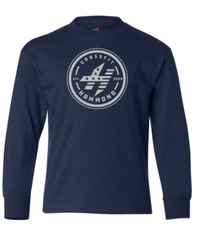 CrossFit Hammond - Circle Logo YOUTH Unisex Long Sleeve Tee *Available in 2 Color Options
