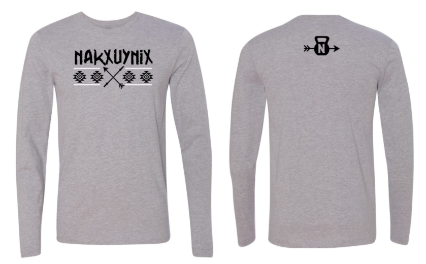 CrossFit Nakxuynix Warrior Ed. Logo:  Adult Unisex Long Sleeve Tee *Available in 2 Color Options