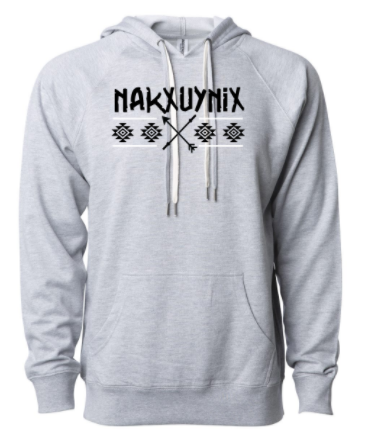 CrossFit Nakxuynix Warrior Ed. Logo:  Adult Unisex Lightweight Terry Hooded Pullover *Available in 3 Color Options