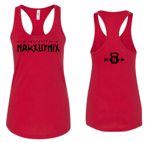 CrossFit Nakxuynix:  Horizontal Logo Ladies Racerback Tank *Available in 3 Color Options