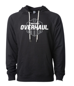 CrossFit Overhaul Shield Logo:  Adult Unisex Lightweight Terry Hooded Pullover