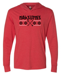 CrossFit Nakxuynix Warrior Ed. Logo:  Adult Unisex Long Sleeve Hooded Tee *Available in 2 Color Options