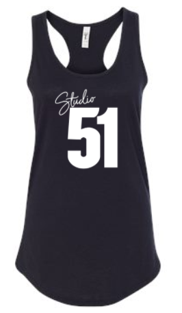 Studio 51:  Ladies Poly/Cotton Racerback Tank *Available in 2 Color Options