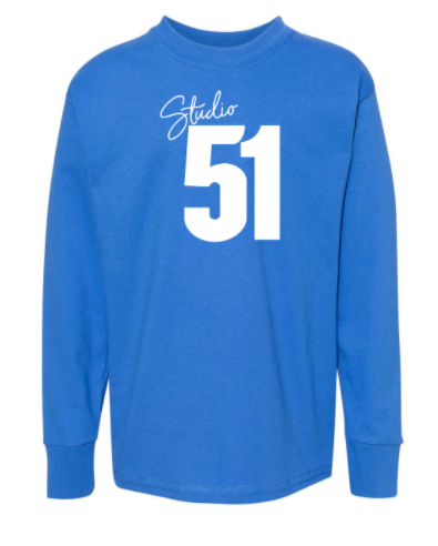 Studio 51:  Youth Long Sleeve Unisex Tee *Available in 2 Color Options