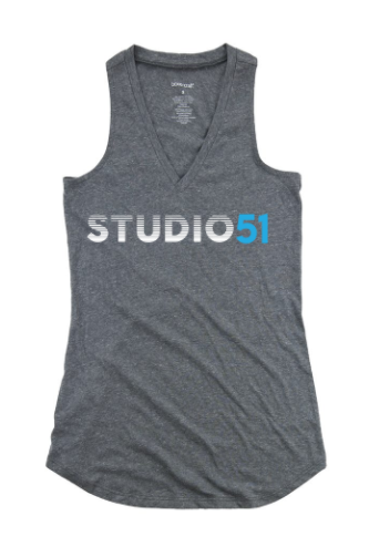 Studio 51:  Metallic Silver Logo Youth Tank